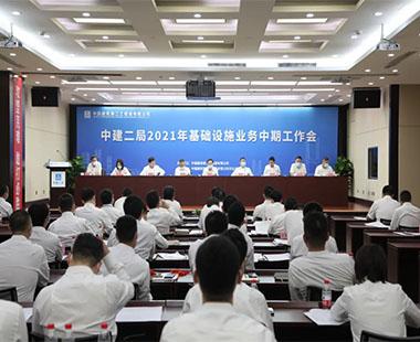 马泽平出席中建二局2021年基础设施业务中期工作会